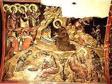 Рождество Христово. Критская фреска. XVII в.