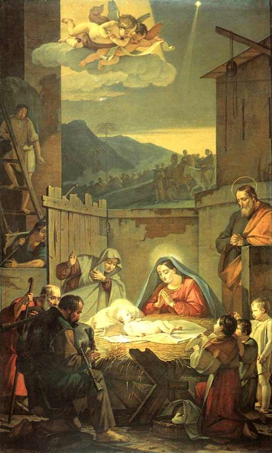 Василий Шебуев Рождество Христово (Поклонение пастухов)